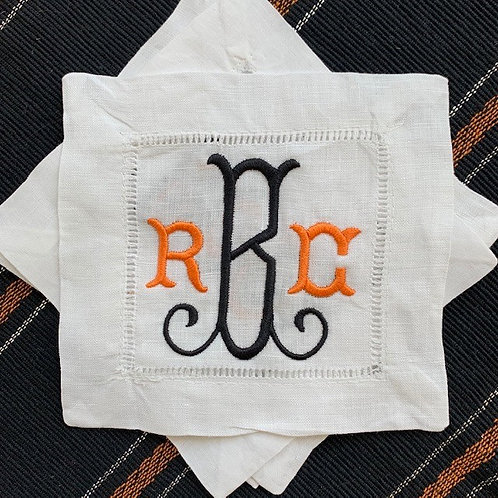 Tuscan Monogram Cocktail Napkins