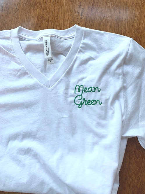 UNT Mean Green Chain Stitch Embroidered Tees