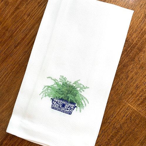 Blue Willow Fern Guest Towel