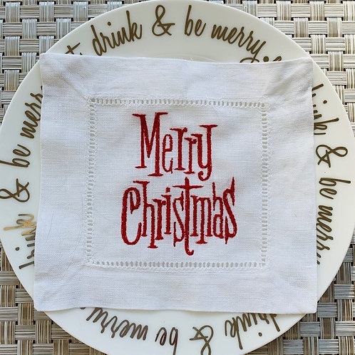 Merry Christmas Cocktail Napkins