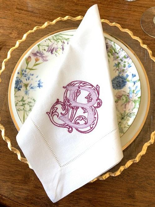 Vintage Vine Monogram Dinner Napkins
