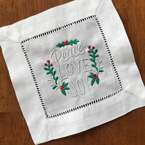 Peace Love & Joy Holiday Cocktail Napkins