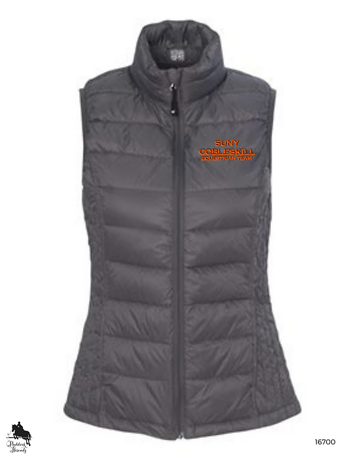 SUNY Cobleskill Hunt Seat Team Ladies Puffy Vest