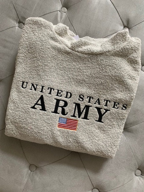 United States Army Woolly Threads Natural Pullover