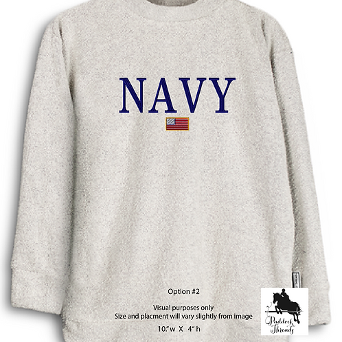 United States Navy Woolly Threads Natural Pullover