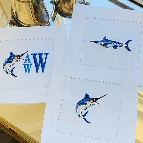 Marlin Embroidered Linens