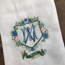 Wedding crest dinner napkins