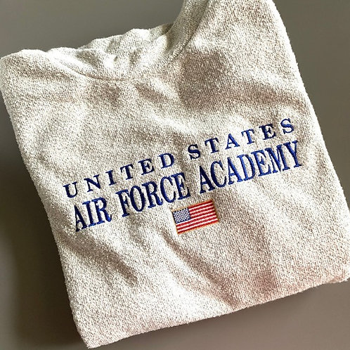 Air Force Academy  Woolly Threads Natural Pullover