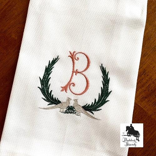 Pheasant Monogram Towel