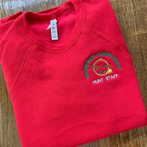 Red Princess Anne Hunt Sweatshirt - Hunt Staff