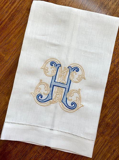 Vintage Vine Monogram Towel