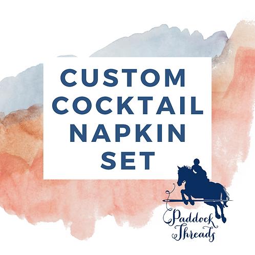 Custom Cocktail Napkin - Set of 12