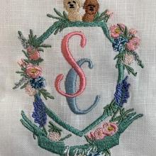 Wedding crest detail