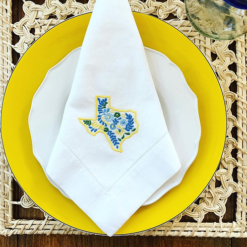 Oaxaca Inspired Texas Embroidered Dinner Napkins