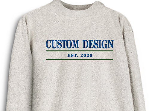 Custom Embroidered Woolly Threads Natural Pullover
