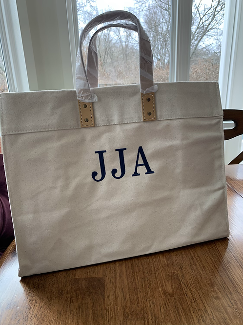 Mongrammed Utility Tote