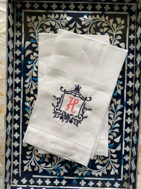 Pagoda Monogram Towel