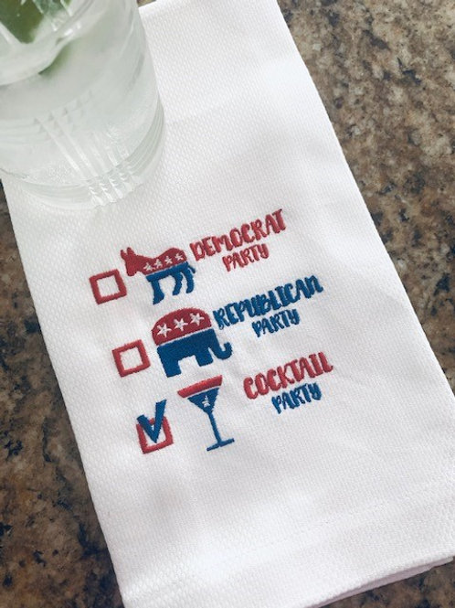 Vote Cocktail Party! Guest Towel