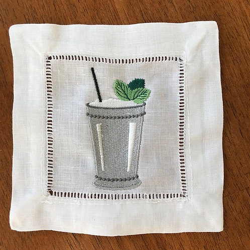 Mint Julep Cup Cocktail Napkin Set