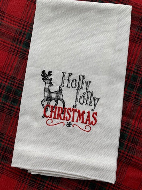 Holly Jolly Christmas Guest Towel