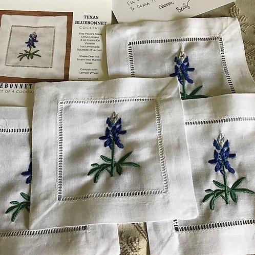 Bluebonnet Cocktail Napkins