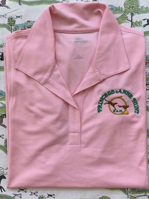 Ladies Pink Micropique Sport-Wick® Polo
