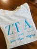 Zeta custom Woolly Threads pullover