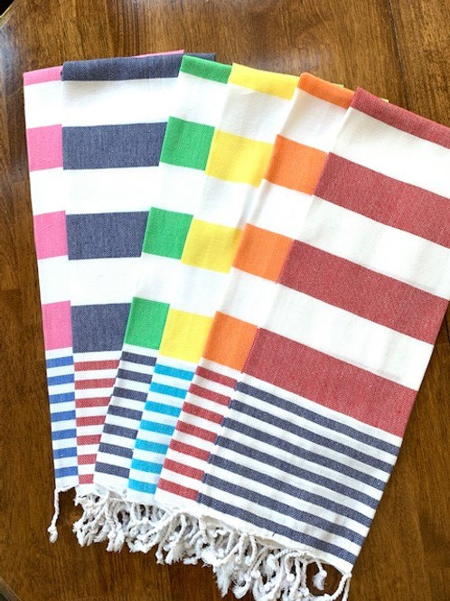 Monogrammed Cabana Striped Kitchen Towels