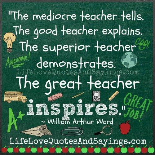 great teacher inspires