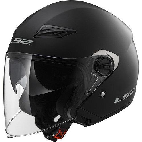 LS2 OF569 Track Openface Helmets Matt Black