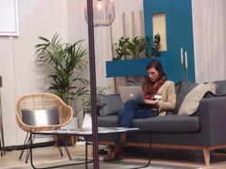 Travail sur le stand au salon de l'habitat pour Livstyl Décoration d'intérieur