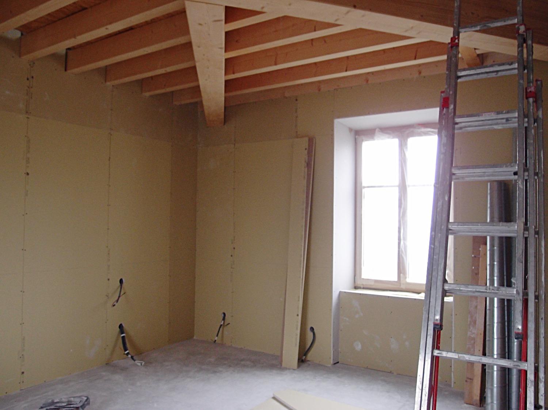 Travaux pour l'aménagement de la chambre sur 2 niveaux