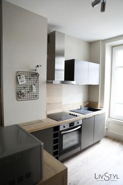 Agencement et décoration d'une cuisine équipée moderne
