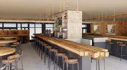 Vue 3D du nouvel aménagement pour le restaurant