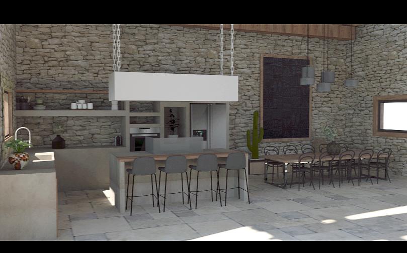 Aménagement et décoration d'une cuisine avec espace salle à manger