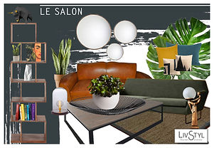 Planche mobilier pour aménagement intérieur et décoration d'une maison