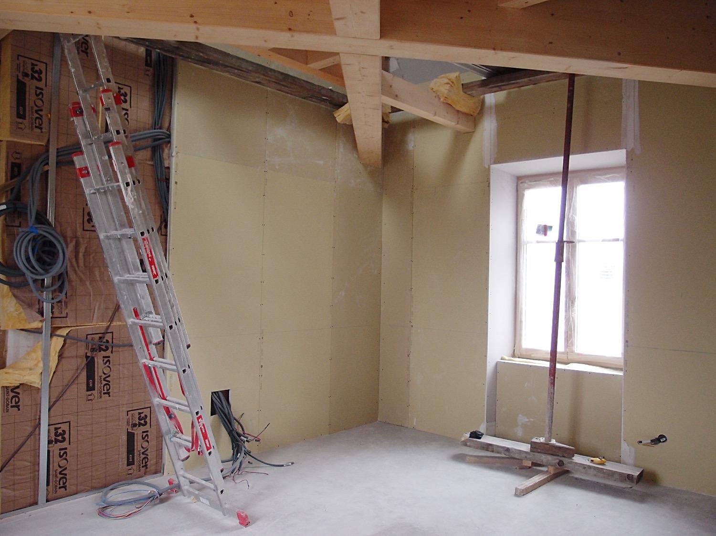 Avancée des travaux pour la création d'une chambre sur 2 niveaux