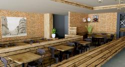 Vue 3D de la décoration du restaurant