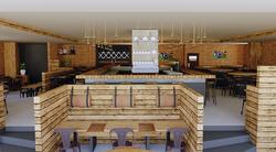 Vue 3D du restaurant pour présenter son nouvel aménagement