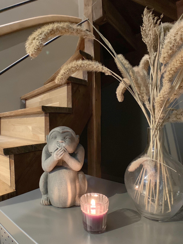 Détail décoration escalier en bois