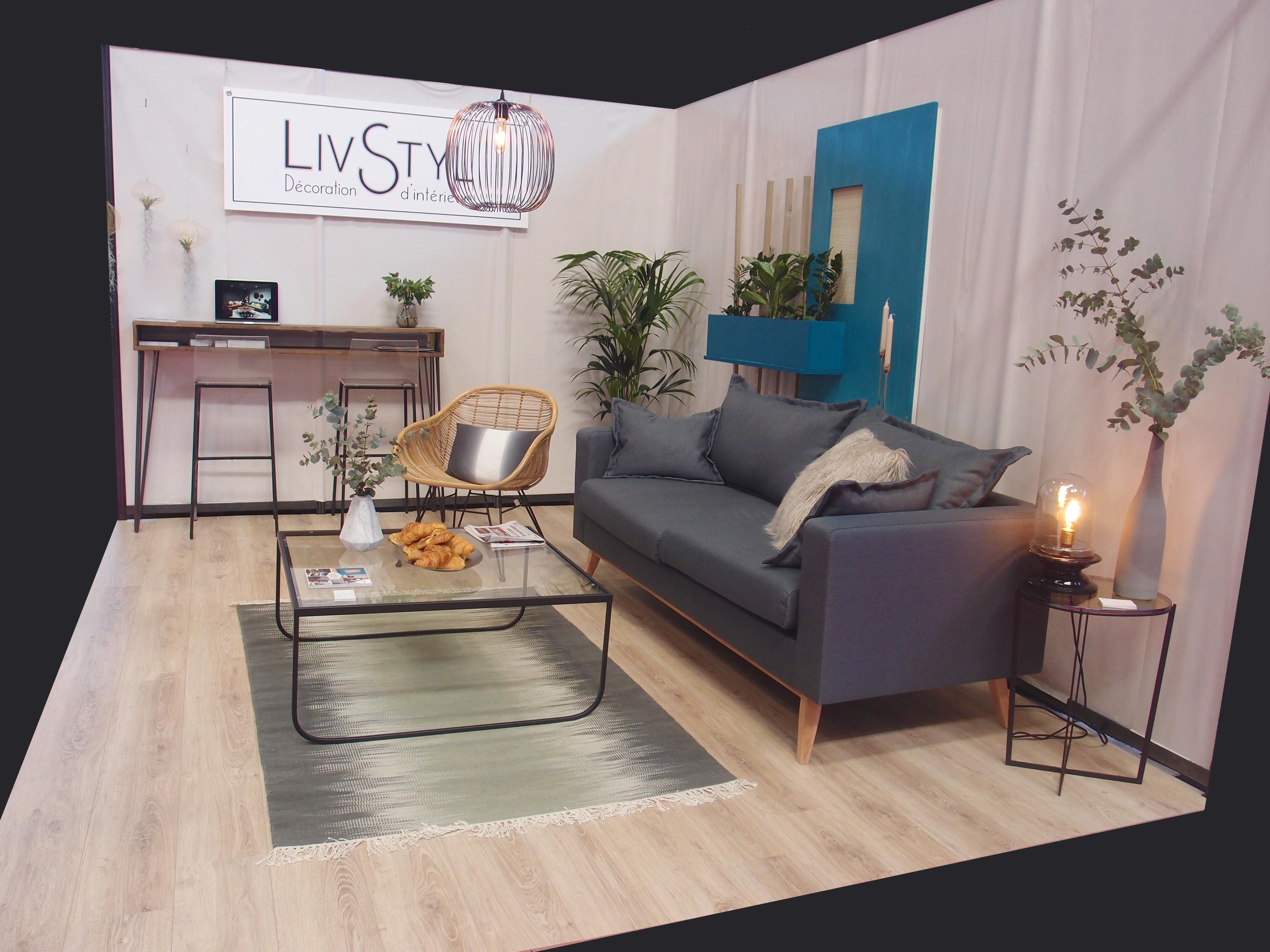 Stand au salon de l'habitat pour Livstyl Décoration d'intérieur