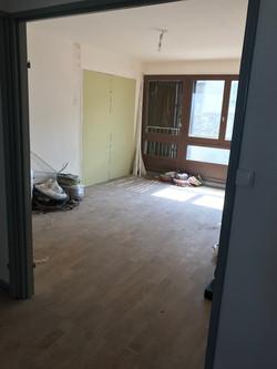 Salon avant intervention pour aménagement et décoration