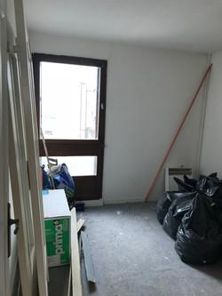 Chambre avant l'intervention pour l'aménagement et la décoration