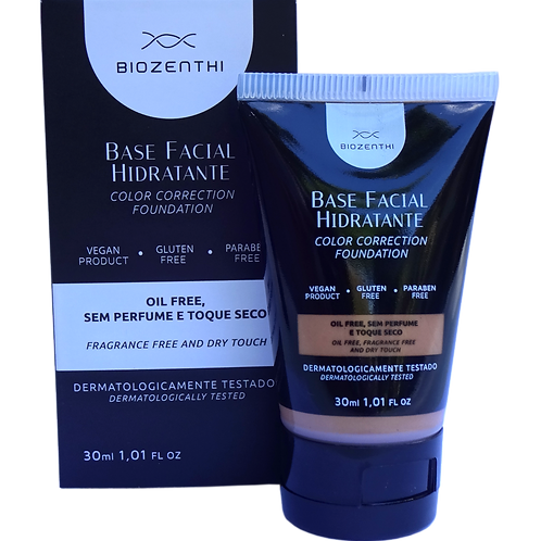 Base facial hidratante BEGE MÉDIO Biozenthi 30ml
