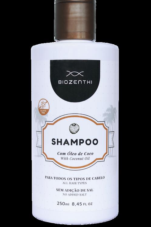Shampoo com óleo de coco BIOZENTHI 250ml