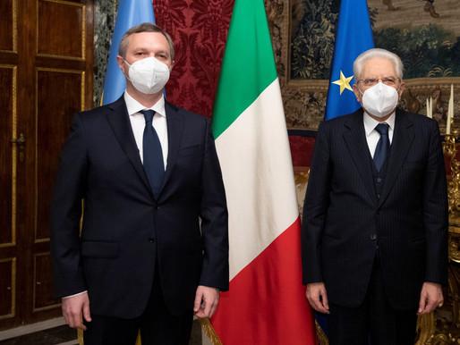 Перші стратегічні кроки Ярослава  Мельника на посаді Повноважного Посла України в Італії