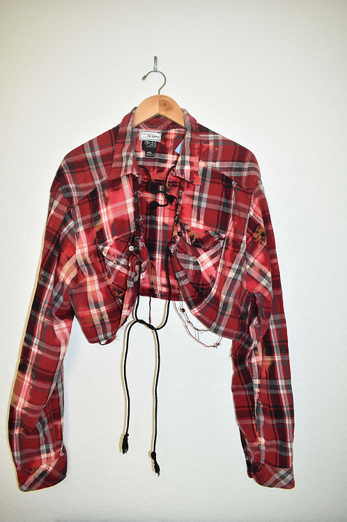 Cropped Bleached Flannel