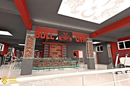 Bull GYM Spor Salonu Tasarımı