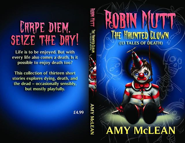 For those who missed my cover reveal, here's a look at my next book_ ROBIN MUTT_ THE HAUNTED CLOWN (