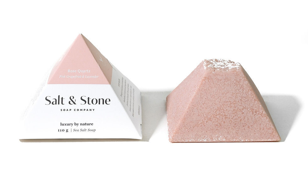 Rose Quartz Spa Stone- lavender & pink grapefruit